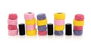 Licorice Allsort Sweets Stock Photo