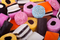 Licorice Allsorts Royalty Free Stock Photography