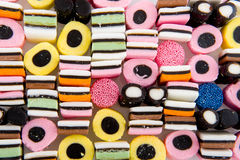 Licorice allsorts. Mixture as background Royalty Free Stock Image