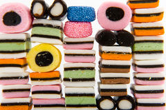 Licorice allsorts Royalty Free Stock Images