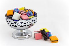 Licorice Allsorts in a Bowl Stock Photos