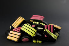 Licorice black royalty free stock image