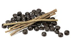 Licorice candies stock images