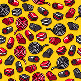 Licorice candies seamless background vector illustration. Royalty Free Stock Photography