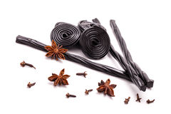 Licorice Candy, Star Anise And Cloves Royalty Free Stock Photos