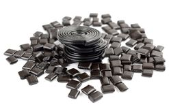 Licorice candy Stock Photography