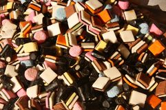Licorice candy Royalty Free Stock Images