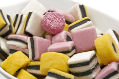 Licorice candy close up Stock Image