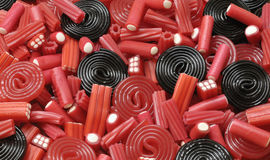 Licorice candy Stock Images