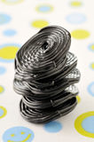 Licorice candy rolls Stock Photos