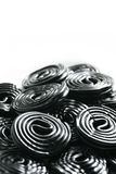 Licorice candy wheels Royalty Free Stock Photos