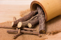 Licorice root sticks Royalty Free Stock Image