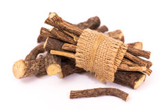Licorice root sticks Stock Images