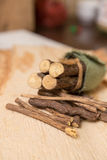 Licorice root sticks Royalty Free Stock Photos