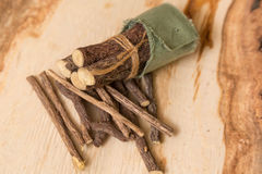 Licorice root sticks Stock Photo