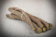 Licorice roots Stock Image