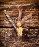 Licorice roots Stock Photography