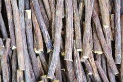 Licorice roots Stock Photos