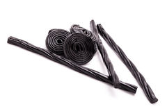 Licorice Spirals And Sticks Royalty Free Stock Photos