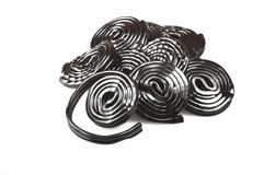 Licorice wheels candies Royalty Free Stock Photo