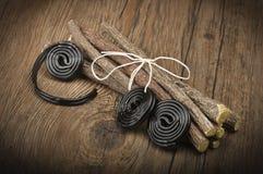 Licorice wheels candies Royalty Free Stock Image