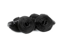 Licorice wheels Stock Photography