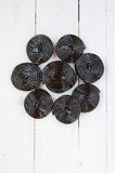 Licorice wheels Royalty Free Stock Image