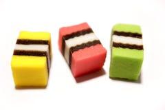 Licorice on white Stock Images