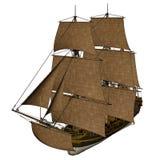 Licorne船- 3D回报 免版税图库摄影