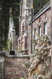 Licorne au château de Delgatie en Ecosse Photo stock