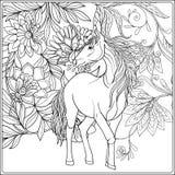Licorne dans le jardin magique illustration libre de droits