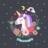 Licorne et magie Photo libre de droits