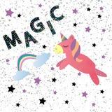 Licorne magique mignonne illustration de vecteur