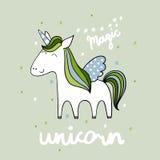 Licorne mignonne magique Photographie stock libre de droits