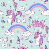 Licorne mignonne magique Images stock