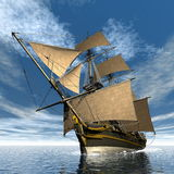 Licorne ship - 3D render Stock Images