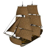 Licorne ship - 3D render Royalty Free Stock Photography