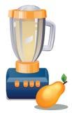 licuadora de la imagen 3D y fruta de la pera Imagen de archivo libre de regalías