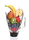 Licuadora llenada de la fruta Imagen de archivo libre de regalías