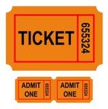 liczący bilet royalty ilustracja