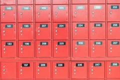 Liczący czerwoni bezpieczni pudełka, biznesowy pojęcie obraz stock
