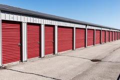 Liczący jaźń magazyn i mini składowe garaż jednostki VII Fotografia Stock