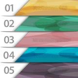 Liczący kolorowy papier sztandary ilustracji