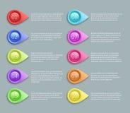 Liczący tekst wektorowy układ z 3d wskazuje pociski ilustracji