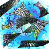 Liczb i komputerowych klawiatur abstrakta tło Zdjęcia Stock