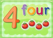 Liczb karty Zdjęcie Royalty Free