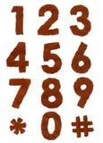 liczb papieru łza Fotografia Stock