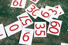 Liczb serie malować na zieleni ścianie Obraz Stock
