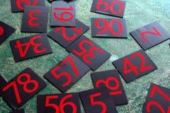 Liczb serie malować na zieleni ścianie Obraz Royalty Free