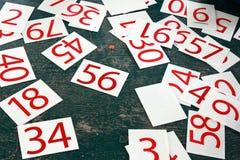 Liczb serie malować na zieleni ścianie Fotografia Royalty Free